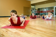 Women at health club.